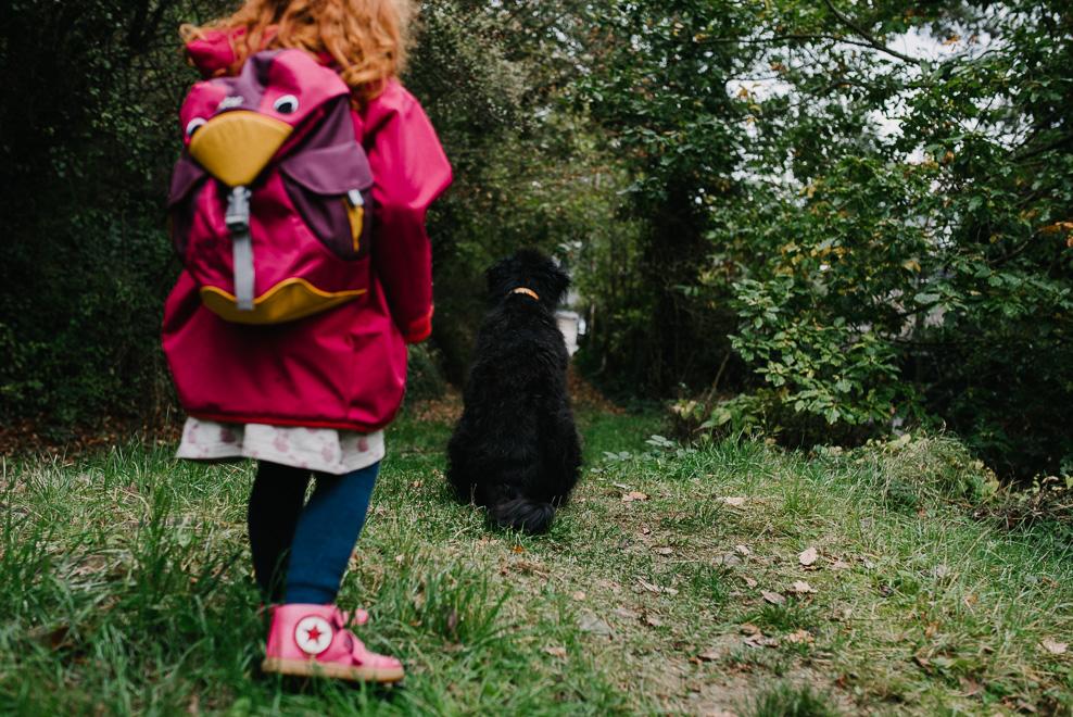 familienfotos mit hund im wald fotografin hessen