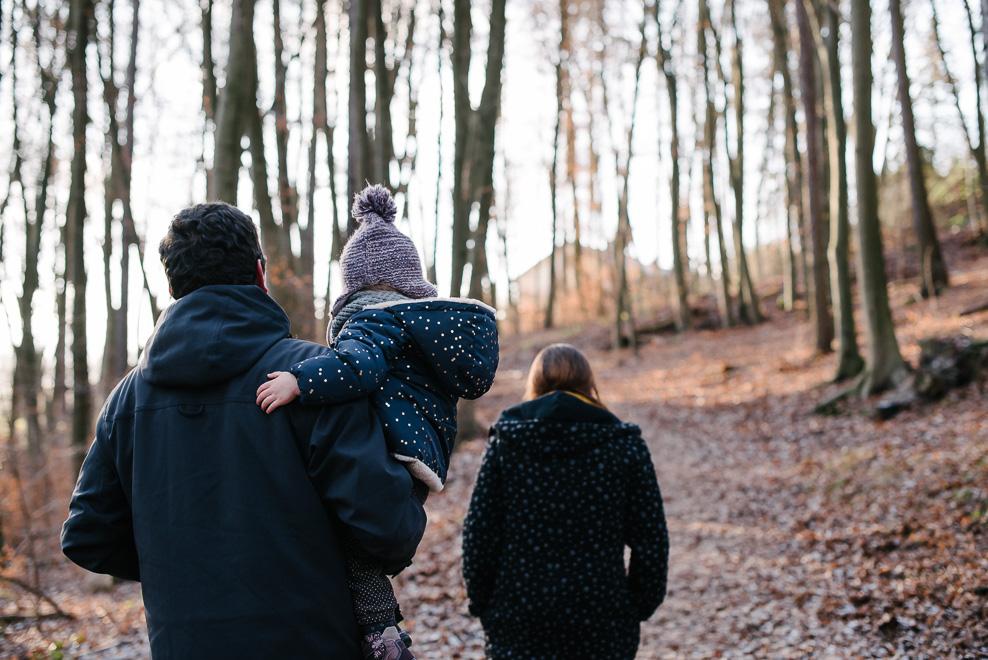 familienfotografie waldspaziergang frankfurt