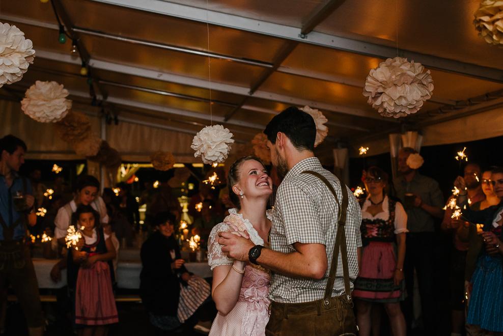 first dance mit wunderkerzen