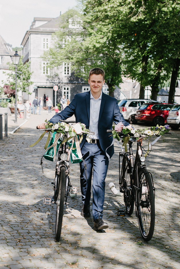 hochzeit auf fahrrädern
