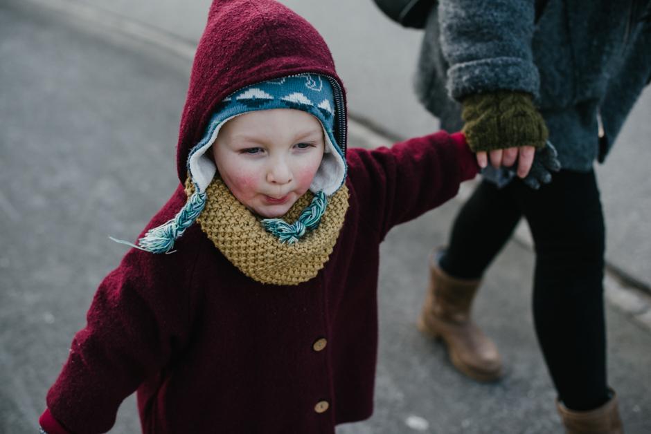 dokumentarische familienfotografie winter
