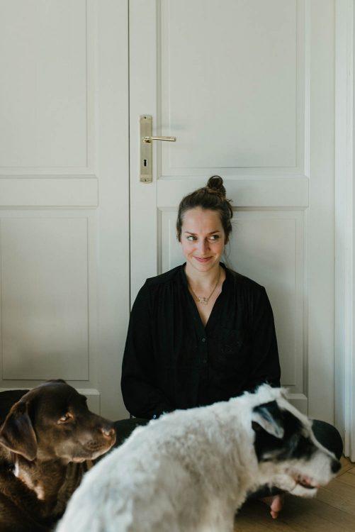portrait mit hunden texterin autorenportrait
